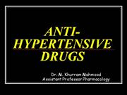 ANTI-HYPERTENSIVE DRUGS