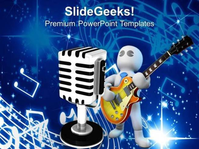 People singer with mike music theme ppt template powerpoint template related powerpoint templates toneelgroepblik Choice Image