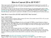 How to Convert 2D to 3D WMV