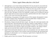 What is Apple's Future after Steve Jobs Died