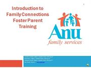 Intro to Family Connections Foster Parent Training part 1