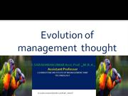 Principles of Managment - Evolution of Management