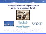 The socio-economic imperatives of achieving broadband for all