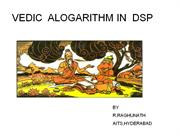 VEDIC  ALOGARITHM IN  DSP
