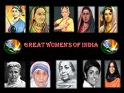 Great women of India.