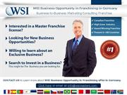 WSI BUSINESS OPPORTUNITY IN FRANCHISING IN GERMANY