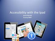 Accessibility with the IPad