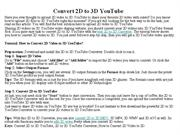 Convert 2D to 3D YouTube