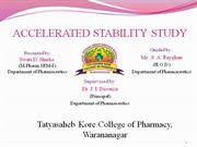 accelerated stability study ppt