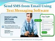 Send SMS from Email Using Text Messaging Software- message-media.com