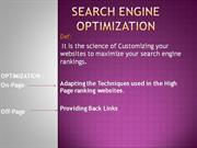 Search Engine Optimization - DS