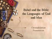 Babel and the Bible