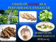 usage of herbs in poultry as a productive enhancer