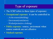Type of exposure