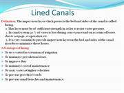 lined canals