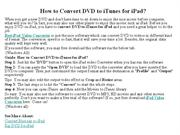 How to Convert DVD to iTunes for iPad