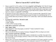 How to Convert FLV to DVD Mac
