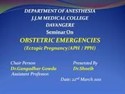 ETIOLOGY OF OBSTETRIC HAEMORRHAGE (2)