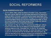 SOCIAL REFORMERS