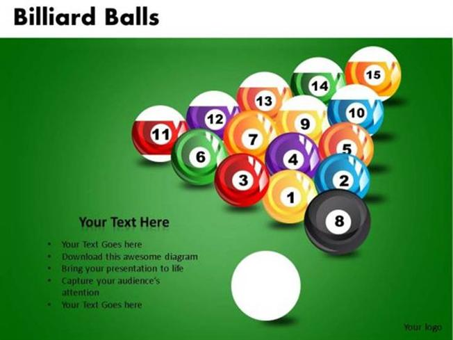 1230_635119686120876250 1 pool billiard balls slides and diagram template powerpoint diagram