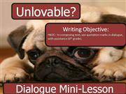 Dialogue Writing Mini-Lesson