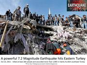 7.2 Magnitude Earthquake hits Eastern Turkey – Oct 23, 2011