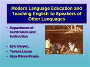 Presentation for TESOL