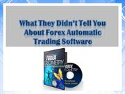 Forex Automatic Trading Software