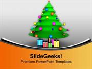 CHRISTIAN BEAUTIFUL CHRISTMAS TREE FOR CELEBRATION PPT TEMPLATE