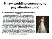 9 new wedding ceremony to pay attention to