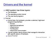 Drivers and the Kernel1
