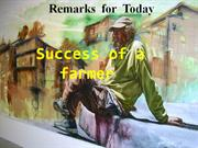 Success of a farmer