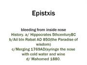 EPISTAXIS ppt   Dr Javed shah FRCS . Bannu Medical College