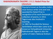 Nobel Prize Winners from India
