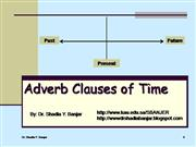 Adverb Clauses of Time