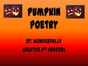 Pumpkin poetry power point