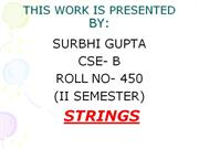 strings ppt