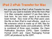 Know how to transfer iPad 2 ePub files to Mac