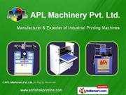 Pad Printing Machines APL Machinery Pvt Ltd FARIDABAD