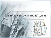Chemical Reactions and Enzymes-Blackboard