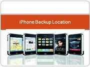 How to Know about iPhone backup location