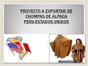 Proyecto de exportacion de chompas de alpaca Peru-Estados Unidos