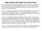 High Quality LED Lights from Dorm Grow