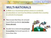 multinationals companies