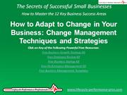 VIDEO:  How to Adapt to Change in Your Business
