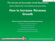 VIDEO:  How to Increase Revenue Growth
