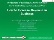 VIDEO:  How to Increase Revenue in Business
