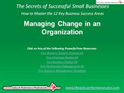 VIDEO: Organizational Change Management