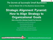 VIDEO:  Strategic Alignment Pyramid - How to Align Strategy