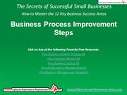 VIDEO:  Business Process Improvement Steps